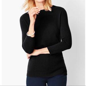 Talbots 100% Cashmere Audrey Black 3/4 Sweater M64